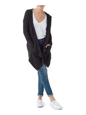 Splendid Thermal Flight Hooded Open-Front Cardigan