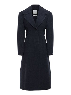 SPORTMAX Double breasted wool & cashmere coat