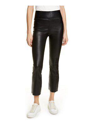 SPRWMN crop flare leather pants