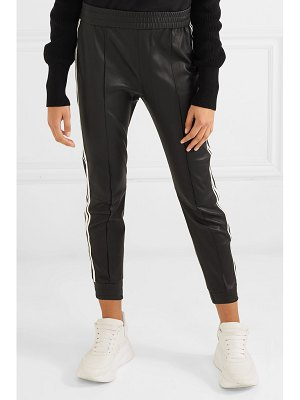 SPRWMN striped leather track pants