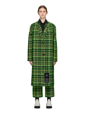 S.R. STUDIO. LA. CA. green check long trench coat