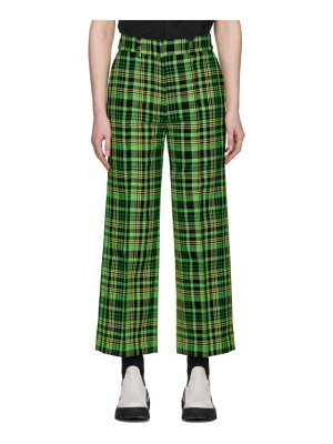 S.R. STUDIO. LA. CA. green check suit trousers