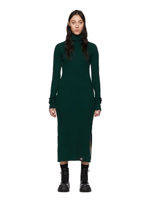 S.R. STUDIO. LA. CA. green rib funnel neck dress