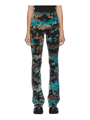 S.R. STUDIO. LA. CA. multicolor tie-dye flame flair trousers