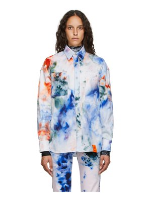 S.R. STUDIO. LA. CA. white soto hand-dyed denim shirt