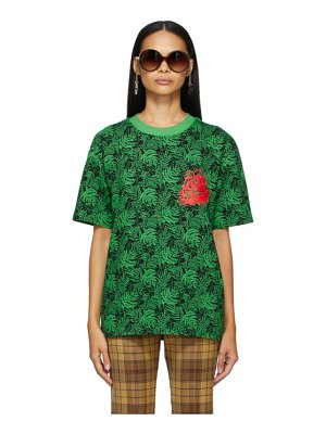 SSENSE WORKS ssense exclusive jeremy o. harris black and green rose t-shirt