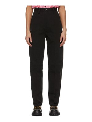 SSENSE WORKS ssense exclusive jeremy o. harris black twill relaxed trousers
