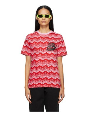 SSENSE WORKS ssense exclusive jeremy o. harris red and pink print rose t-shirt