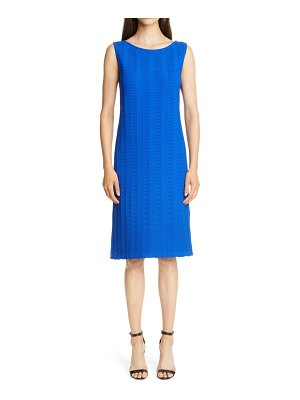 St. John architectural ottoman knit sheath dress