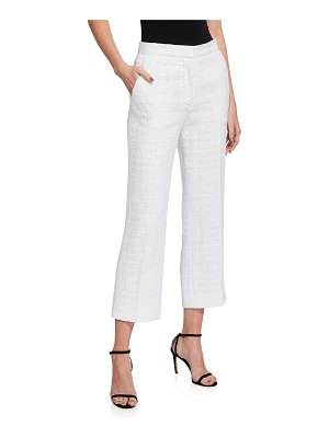 St. John Basketweave Cropped Tweed Pants