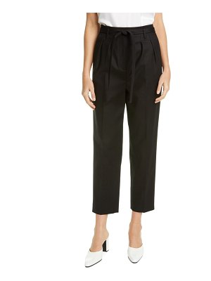 St. John belted stretch cotton pants