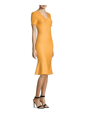 St. John caris v-neck fit & flare dress