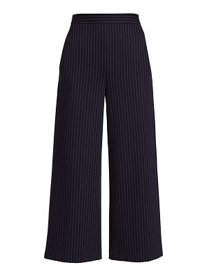 St. John chevron stripe jersey cropped wide-leg pants