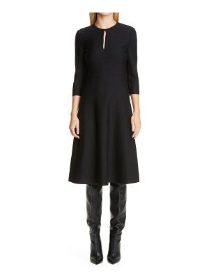 St. John contour ottoman milano knit fit & flare dress