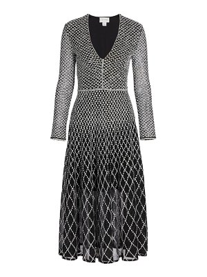 St. John diamond-knit midi dress