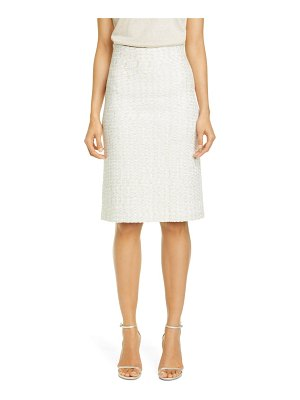 St. John Evening structured caged inlay knit skirt