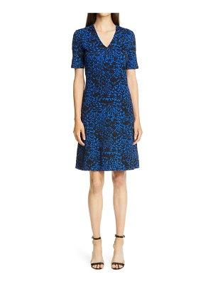 St. John floral markings jacquard dress