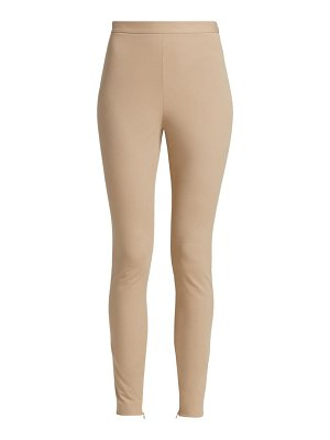 St. John gabardine stretch ankle zip pants