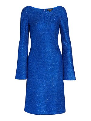 St. John honeycomb bell sleeve a-line dress
