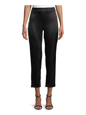 St. John Liquid Satin Side Zip Cropped Pants
