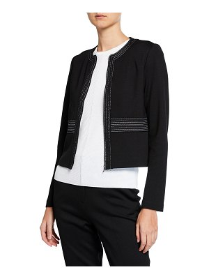 St. John Milano Knit Topstitch Jacket