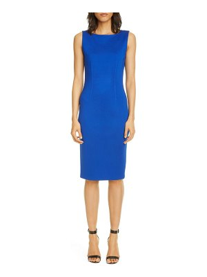 St. John milano knit wool blend sheath dress