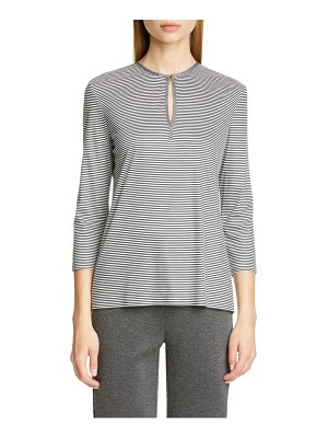 St. John mini stripe interlock tee