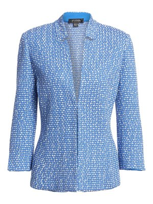 St. John notched collar tweed jacket