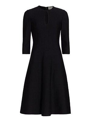 St. John ottoman milano-knit wool dress