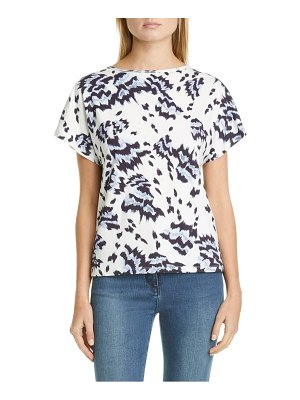 St. John painted butterfly print jersey top