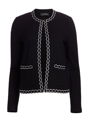 St. John pebbled texture knit jacket