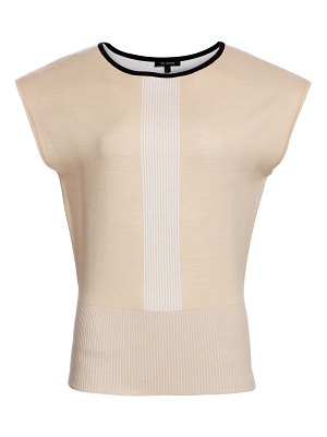 St. John placed engineered stripe knit top