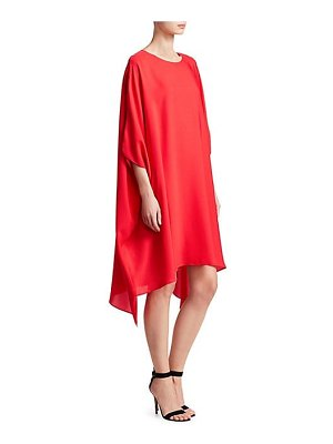 St. John silk georgette draped dress
