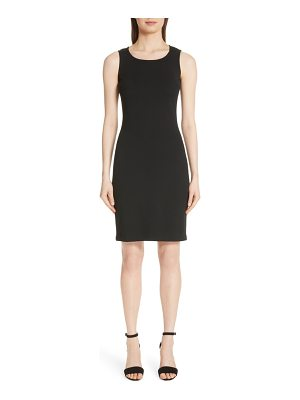 St. John sleeveless milano knit dress