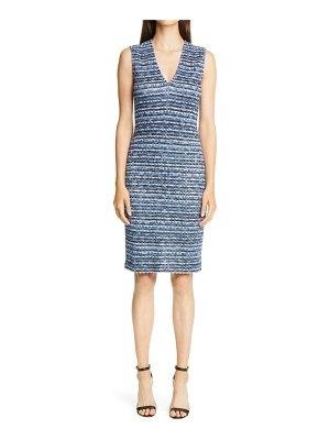 St. John space dye knit sheath dress