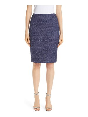 St. John starlight knit pencil skirt