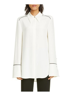 St. John stretch silk crepe de chine shirt