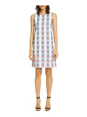 St. John stripe tweed knit shift dress
