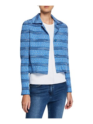 St. John Tweed Knit Cropped Jacket