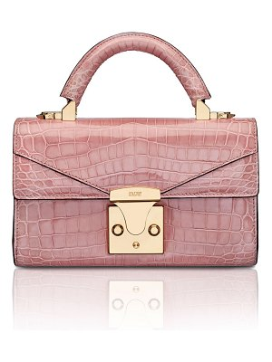 Stalvey Mini Crocodile Top Handle Bag