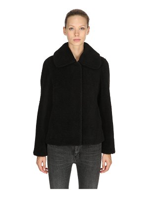 STAND Gilbertine faux fur jacket