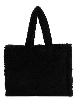 STAND Lola teddy faux fur tote bag