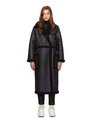 Stand Studio black adriana coat