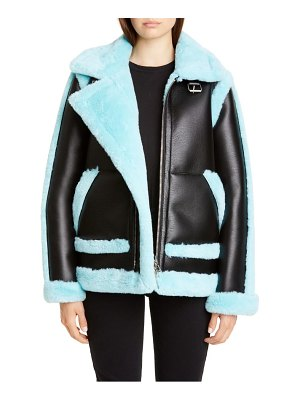 Stand Studio lindsey faux shearling aviator jacket