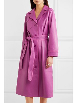 Stand Studio leather trench coat