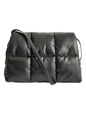 STAND Wanda faux leather padded clutch