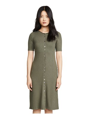 Stateside 5x3 rib maxi button up dress