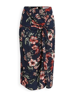 Stateside hawaiian floral print twist skirt