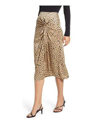Stateside leopard twist skirt