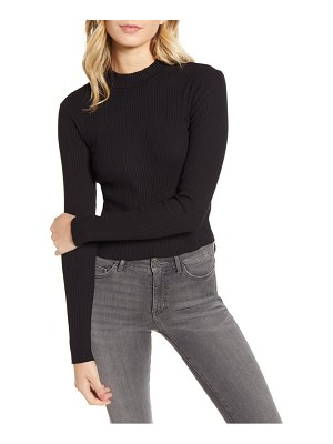 Stateside ribbed mock neck sweater